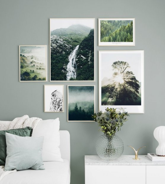 Beautiful nature poster gold frames
